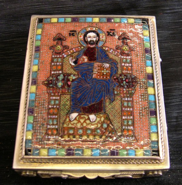800: Russian Sterling Silver Table Box