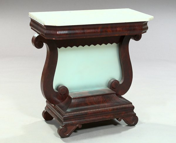 929: American Late Classical Mahogany Pier Table