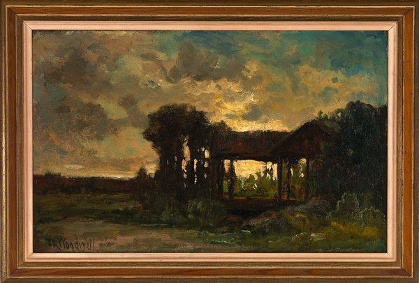 """1041: Joseph R. Woodwell """"Bucolic View"""""""