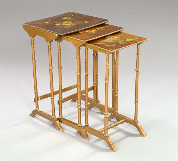 23: Victorian Giltwood and Polychromed Tables