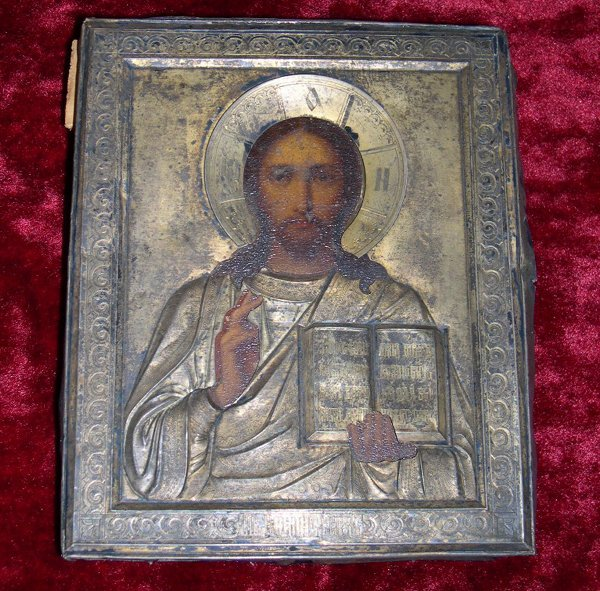 776: Russian Wooden Ikon of Christ Pantocrator