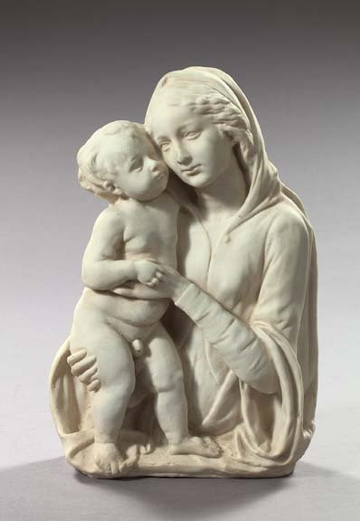777: Italian White Marble-Finished Plaster Relief Plaqu