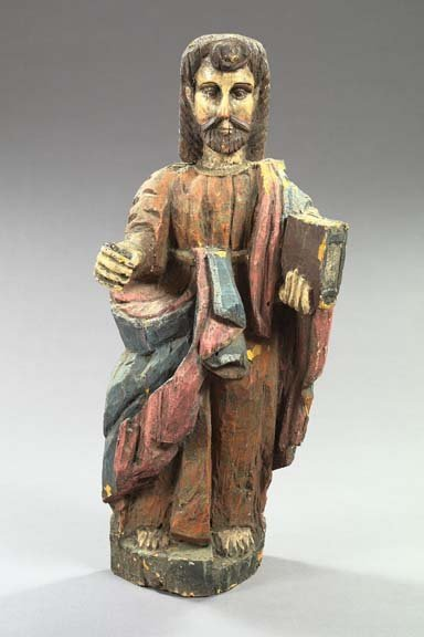 779: Spanish Colonial Carved and Polychromed Wooden Fig