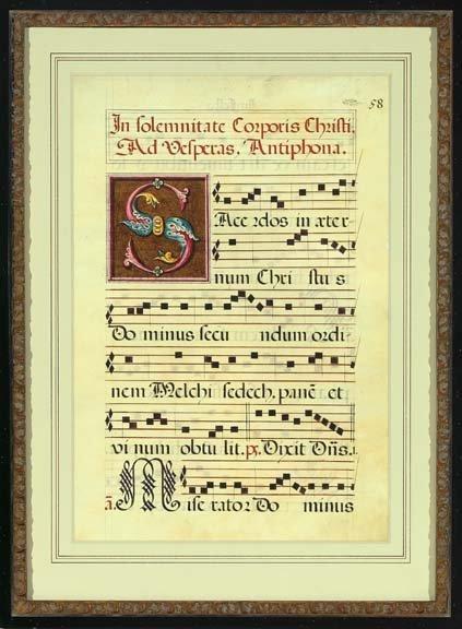789: Good Italian Illuminated Vellum Vespers Page,