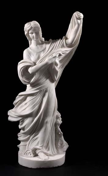 793: Good White Carrara Carved Marble Sculpture,