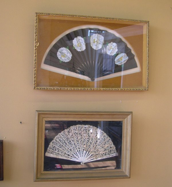 797: Two Shadowbox-Mounted Lady's Victorian Fans