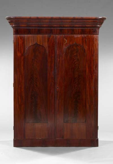 987: American Late Classical Mahogany Armoire,