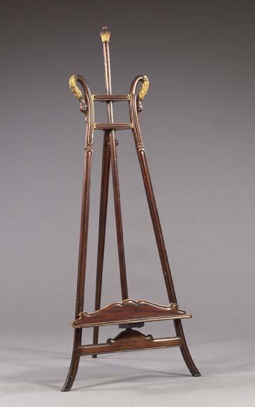 4: French Mahogany and Giltwood Easel,