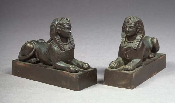 12: English Weighted and Patinated Bronze Lions