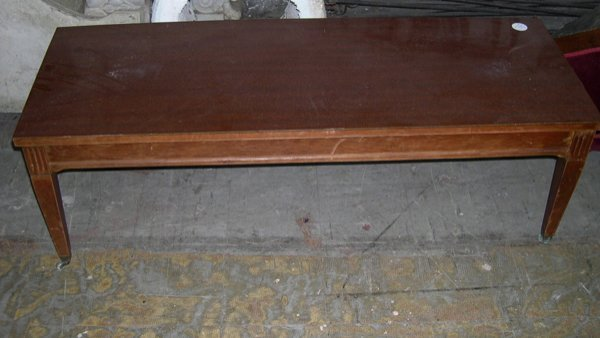 20: Mahogany Stained Low Coffee Table,