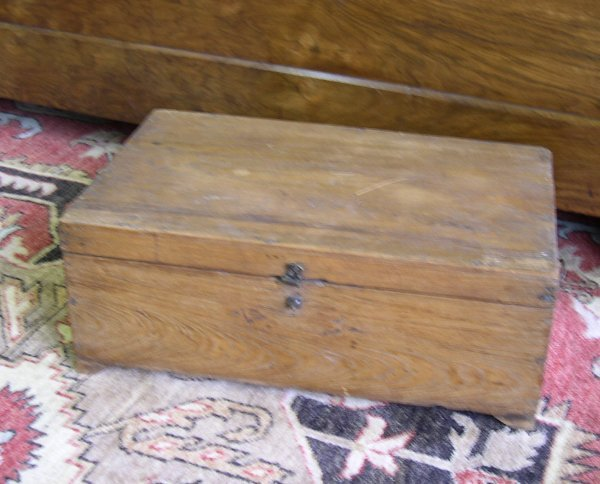 22: Diminutive Northern European Pine Dowry Chest