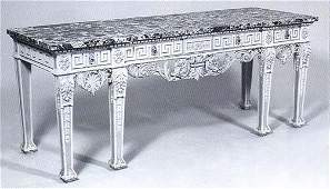 57 Louis XVIStyle MarbleTop Console Table
