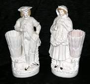 360 Continental Biscuit Porcelain Figural Spill Holder