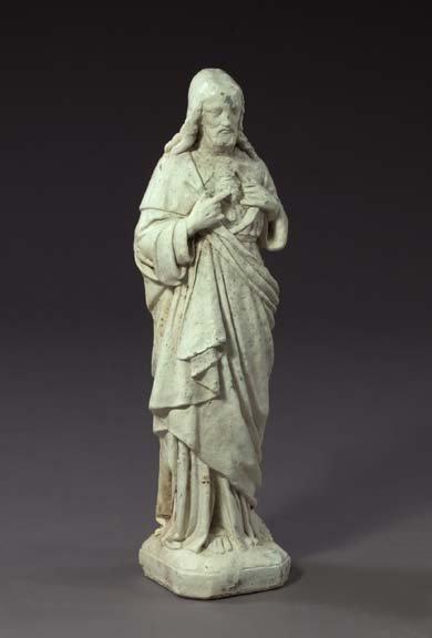 855: Polychromed Cast-Iron Garden Figure,