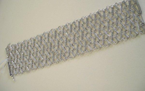 865: White Gold Lady's Diamond Mesh Bracelet