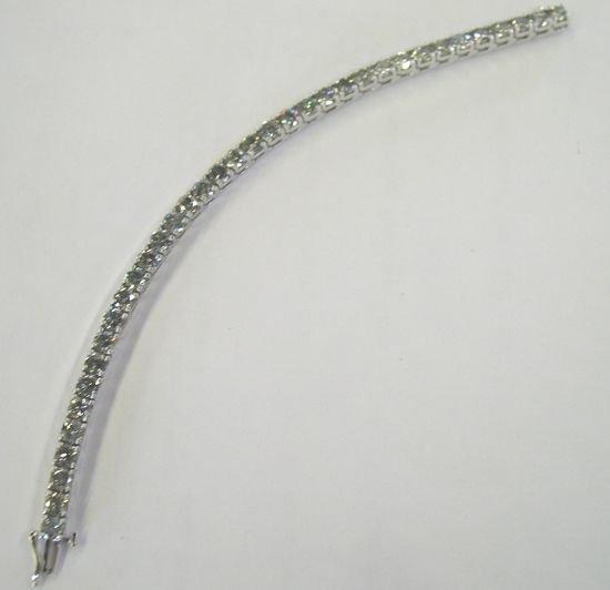 """866: White Gold and Diamond """"Tennis"""" Bracelet"""