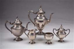 968 Five Piece Sterling Silver Coffee and Tea Set