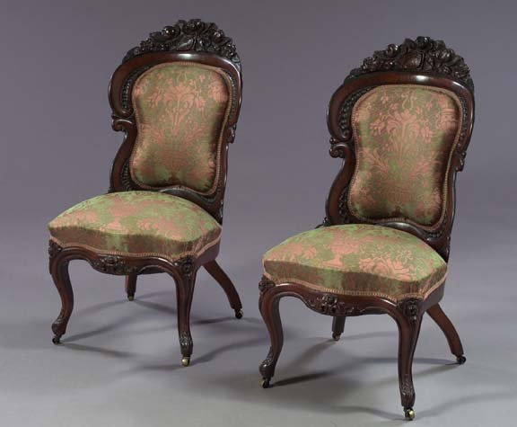 985: American Rococo Revival Rosewood Sidechairs