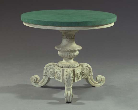 2: English Shagreen Veneered and Painted Center Table