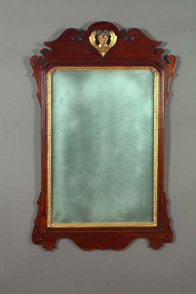 3: George V Carved and Parcel-Gilt Mahogany Mirror