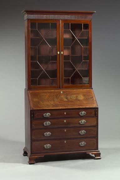 7: George IV Mahogany Secretary-Bookcase,