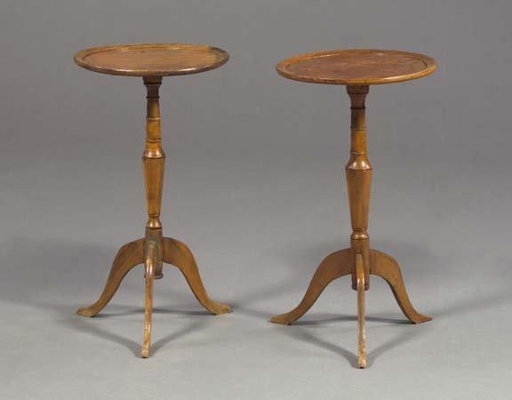 21: Pair of Diminutive Mahogany Chairside Tables