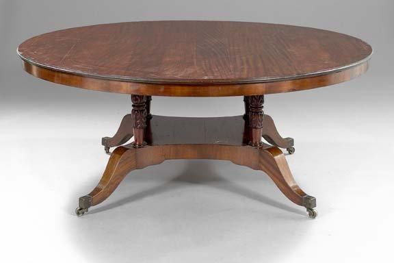 22: Regency-Style Mahogany Horseshoe Dining Table