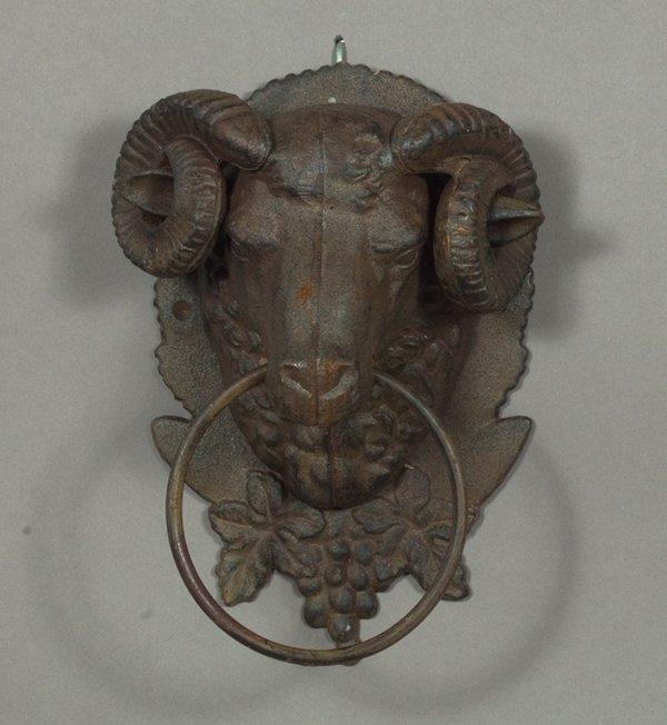 249: Bronze-Patinated Cast-Iron Doorknocker