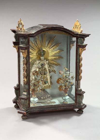756: Austrian Baroque Glass Vitrine