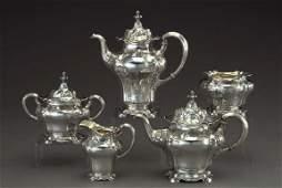 862: Gorham .9584-Standard Silver Tea Service
