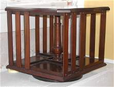 1152: American Turned Mahogany-Stained Book Mill