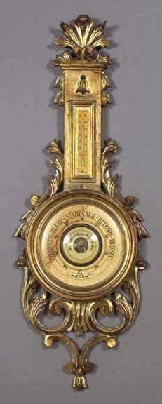 4: French Carved and Giltwood Wall Barometer