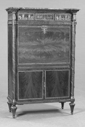 5: Napoleon III Mahogany and Marble-Top Dry Bar