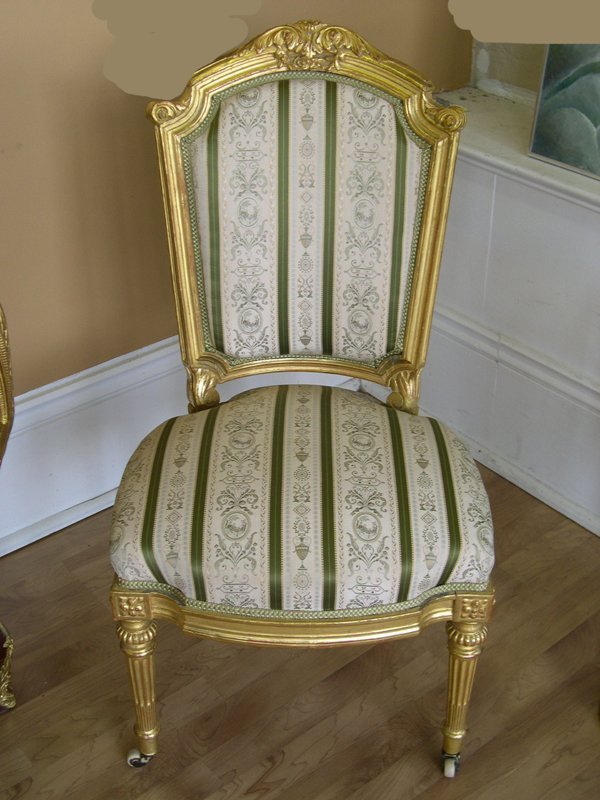 6: Pair of Napoleon III Giltwood Sidechairs