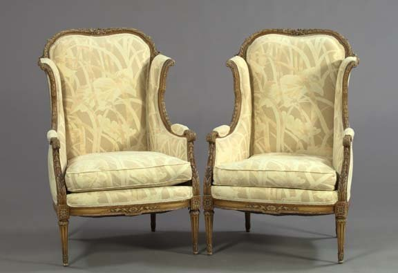 12: Pair of Louis XVI-Style Polychromed Fauteuils
