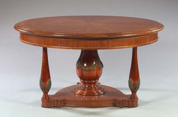 16: Regency-Style Mahogany Center Table