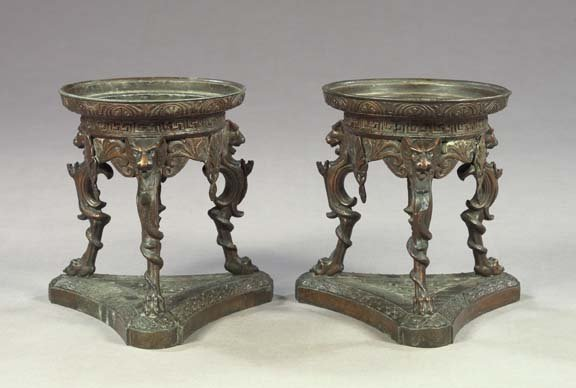 19: French Garniture Coupes of ancient Roman braziers
