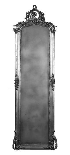 22: Tall Narrow Carved Giltwood Pier Mirror