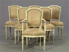 235: Set of Eight French Carved Beechwood Chairs