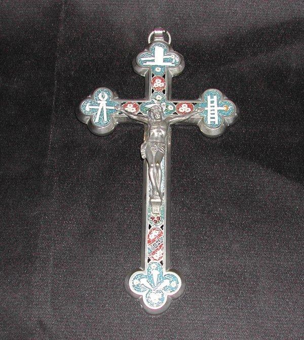 804: Italian Chromium and Micro-Mosaic Crucifix