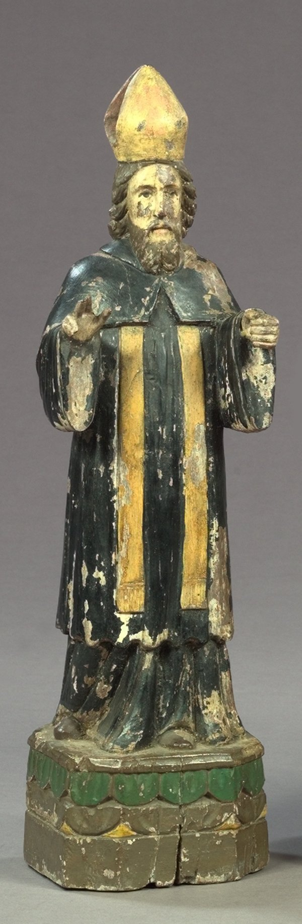 813: Spanish Colonial Carved Wood Figure