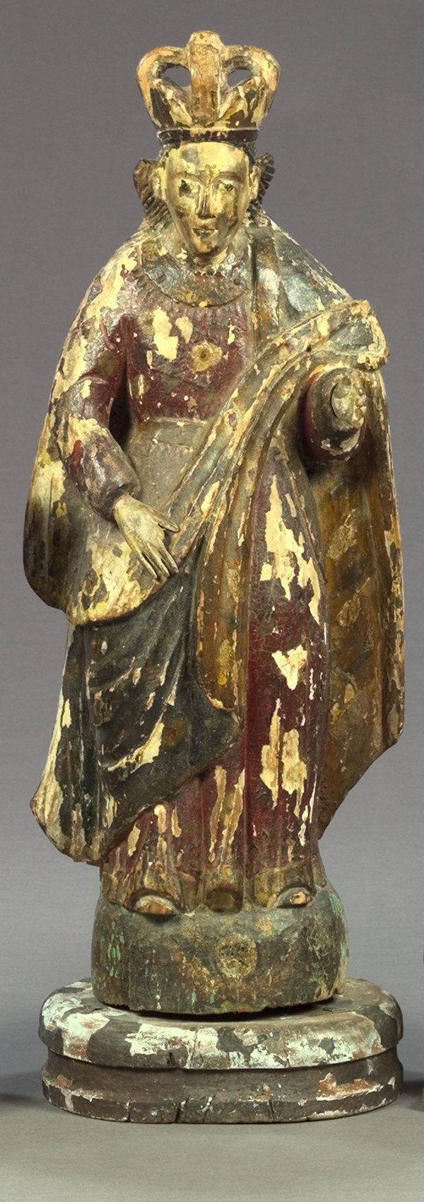814: Spanish Colonial Carved Wood Figure