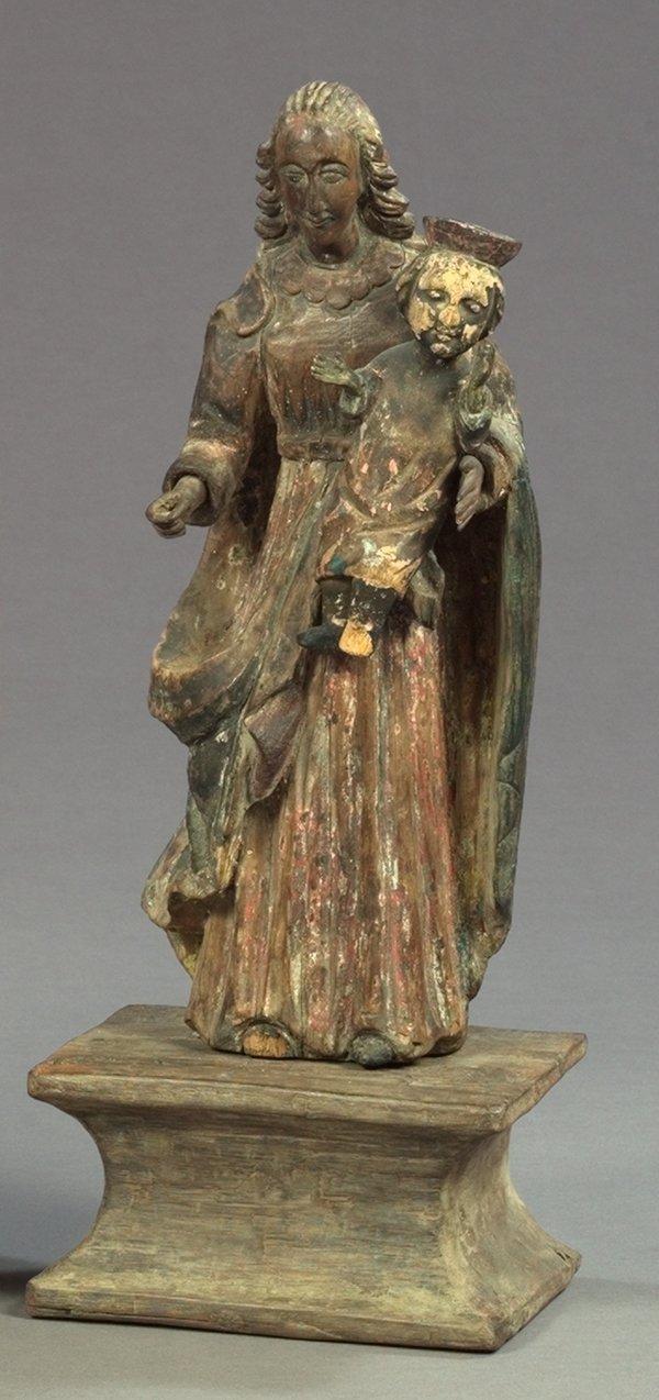 815: Spanish Colonial Carved Wood Groop