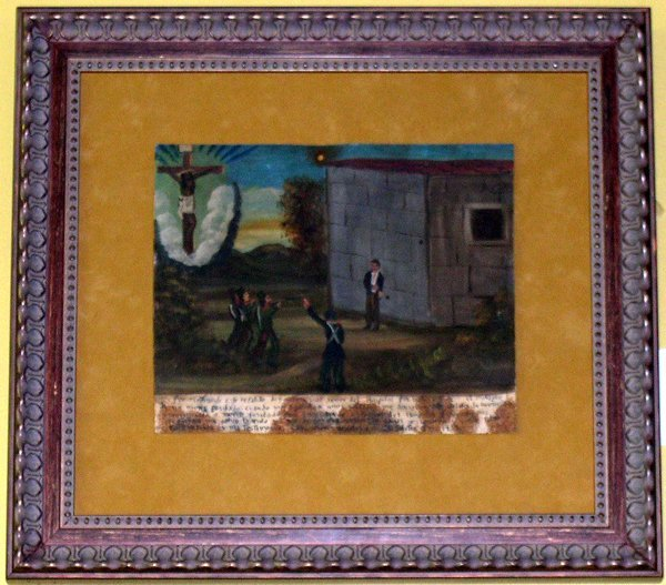 825: Mexican Provincial Painted Tin Panel