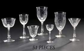 926: American Rock Crystal-Cut Glass Stemware