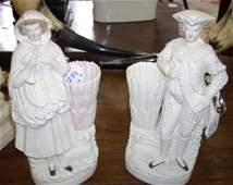 1279 Continental Biscuit Porcelain Figural Spill Holde