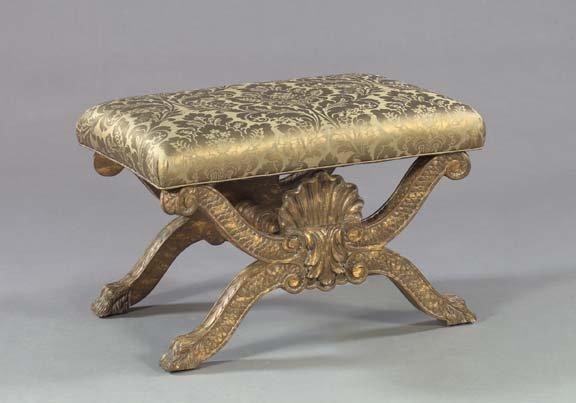 1291: Italian Neoclassical-Style Giltwood Bench