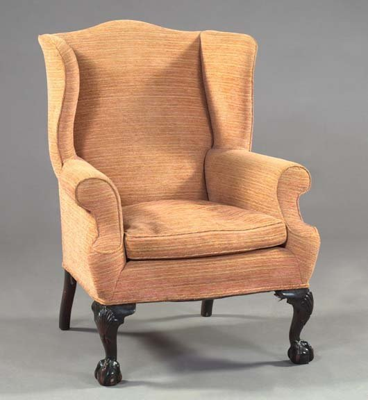 2: George III-Style Mahogany Wing Chair