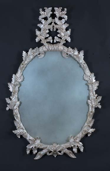 3: English Carved, Wood Mirror