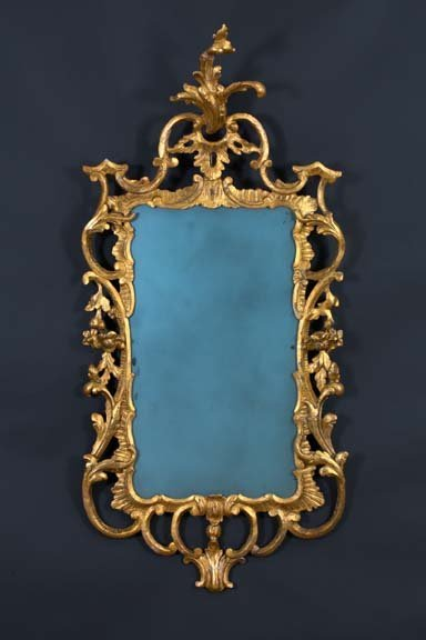 18: English Carved Giltwood Mirror